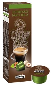 CAFFITALY 10 CAPSULES ECAFFE HAZELNOOT KOFFIE