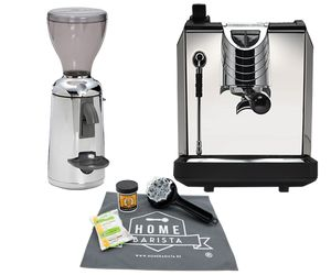 PACK NUOVA SIMONELLI OSCAR ZWART + GRINTA CHROME + FREE HB CLEANING KIT