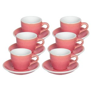 LOVERAMICS 6 CUPS EGG ESPRESSO 80ML + SAUCERS BERRY